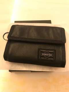 全新真品 日本吉田包Yoshida Porter黑色真皮銀包