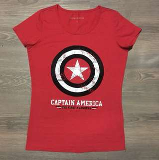 Red Captain America T-Shirt