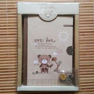 [New] 韓國 Cozy Pet 有鎖記事簿 Notebook with Lock