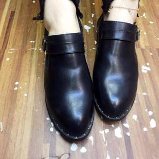 Leather Korean close lovely shoes