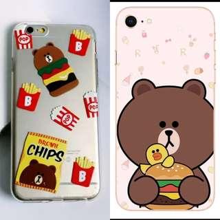 【全店手機殼$20】LINE 熊大 IPHONE 7/8 全包手機殼