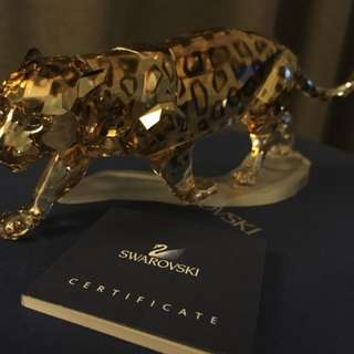 Swarovski Jaguar Golden Shine - Signed