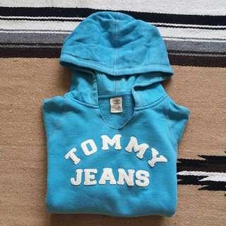 Tommy jeans 短版帽T 土耳其藍