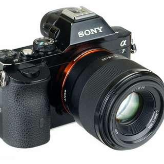 Sony A7 Kamera Mirrorless +Sony Lens FE 50 F1.8 F Kredit bisa