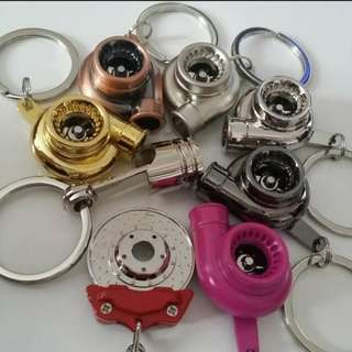 Turbo and brake keychains