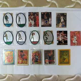Basketball player cards - Michael Jordan, Jason Kido, etc..