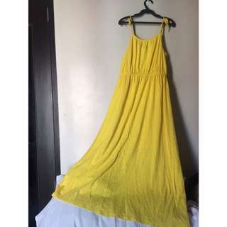 GAP Yellow Maxi Dress