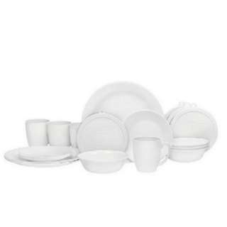 PROMO - Corelle Livingware 20 Piece Dinnerware Set. Winter frost white