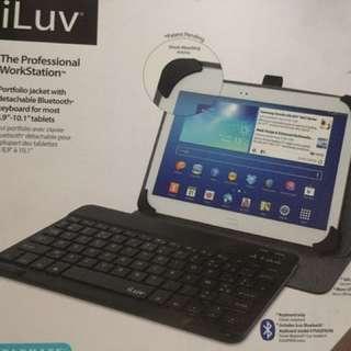 無線keyboard ,藍牙可連手機,平板 (配備Usb線,皮套)