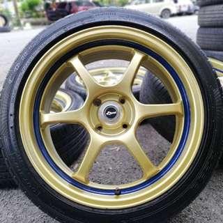 Advan rg 17 inch sports rim swift tyre 70%. Ayat awek kota bharu, boss apa lagi tunggu.. inj rim serupa baru!!!!