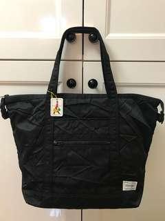 全新真品 日本吉田包Yoshida Porter黑色壓紋手挽袋 單咩袋