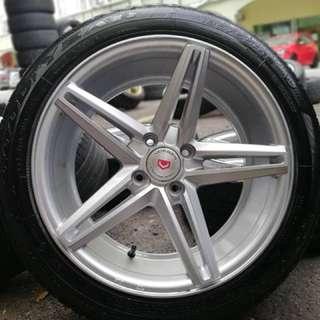 Vossen cv5 16 inch sports rim honda city tyre 70%. Pergi shoping tudung nelofaaa, boss harga kita bagi offaaaa!!!