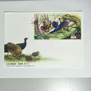 Taiwan FDC Swinhoe's Pheasant