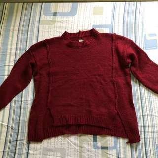 BN knitted red pullover