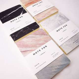 Marbled sketchbooks