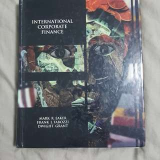 International Corporate Finance hardbound book