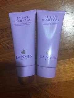 Lanvin body lotion + shower gel