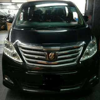 Providing premium 6 seaters services Alphard