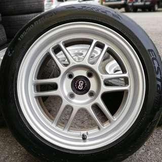 Enkei rpf1 15 inch sports rim axia tyre 70%