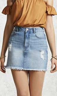 Forever 21 Denim plus size skirt