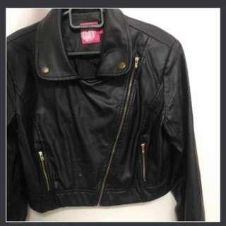 PU Leather Jacket Brand ELLE