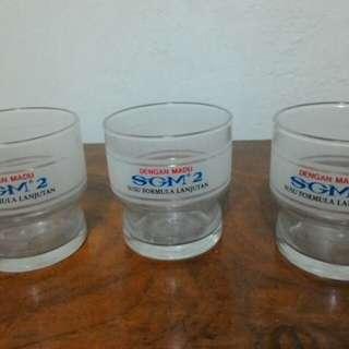 gelas beling jadul susu formula