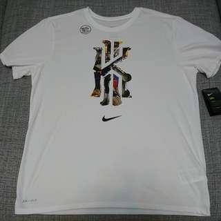 🚚 Nike Kyrie 吸濕排汗短袖LOGO圓領T 白