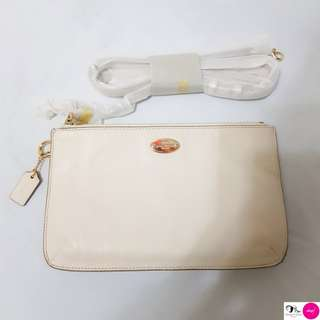 ORIGINAL COACH LYLA DOUBLE GUSSET CROSSBODY | WHITE