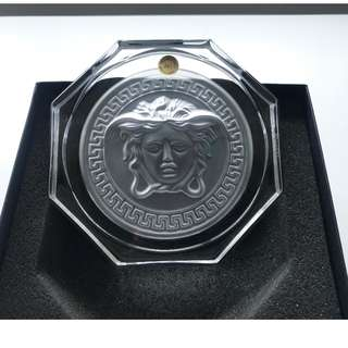 【Versace】 Medusa Lumiere Rosenthal Crystal Glass Coaster 杯墊