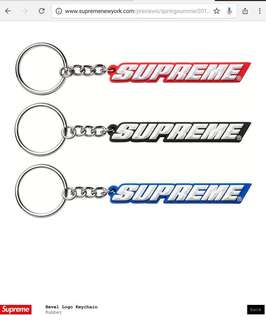 Supreme SS18 keychain red