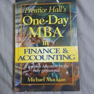 Prentice Hall's One-Day MBA in Finance and Accounting