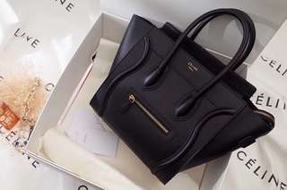 Celine Luggage micro smooth calfskin