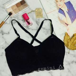 Back Lace Padded Bralette