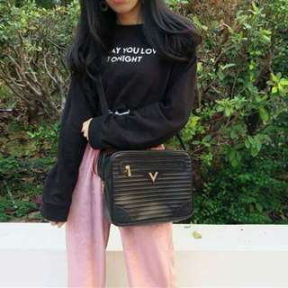 Vintage Valentino 中古黑色手袋