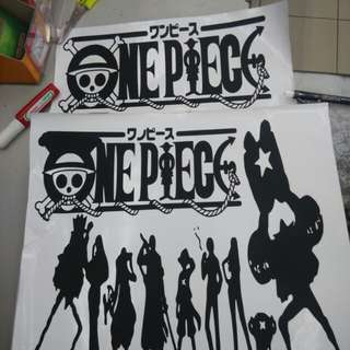 One Piece decal Sticker (no background)