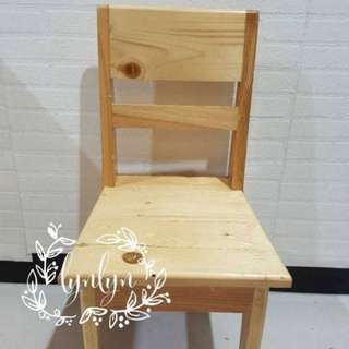 NEW kursi kayu wood table chair montessori meja belajar anak
