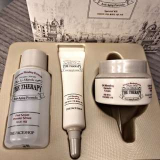 Skincare kit The face shop - The therapy anti-Aging formula travel special kit