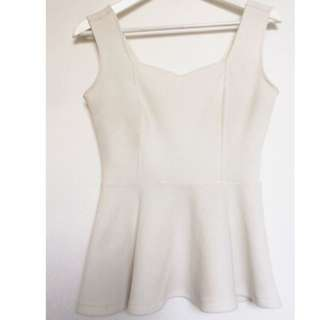 White Mendocino peplum top