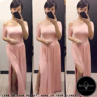 (REG/PLUS SIZE) Dahlia 3-Way Long Dress OLD ROSE