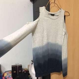 topshop off shoulder sweater