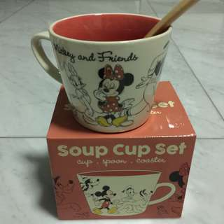Disney Mickey and friends Soup cup set