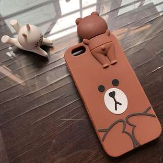 Brown Soft Case Iphone 6/6s