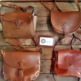 Assorted Genuine Leather Sling Bags