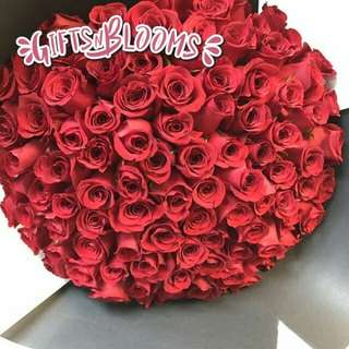 Sweet Surprise For Her Red Roses Big Bouquet - GRQEGG