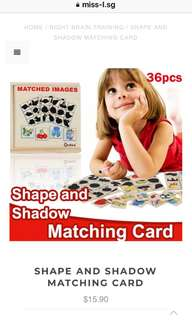 👌🏾 SHAPE AND SHADOW MATCHING CARD
