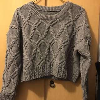 灰色冷衫/毛衣
