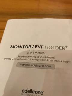 Monitor/EVF Holder (Brand New!)