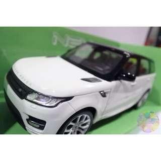 Diecast Range Rover Sport White skala 24 - Mobil Land Rover Putih miniatur Welly Nex
