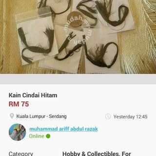Kain Cindai Hitam