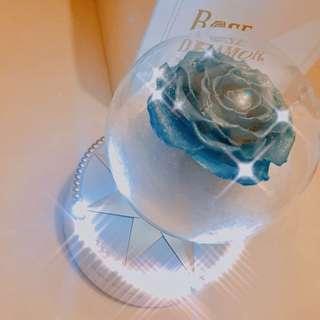 全新永生花懸浮玫瑰水晶波波 Rosedeamour